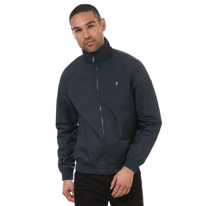 Men's Farah Flint Blouson Jacket in Dark Blue