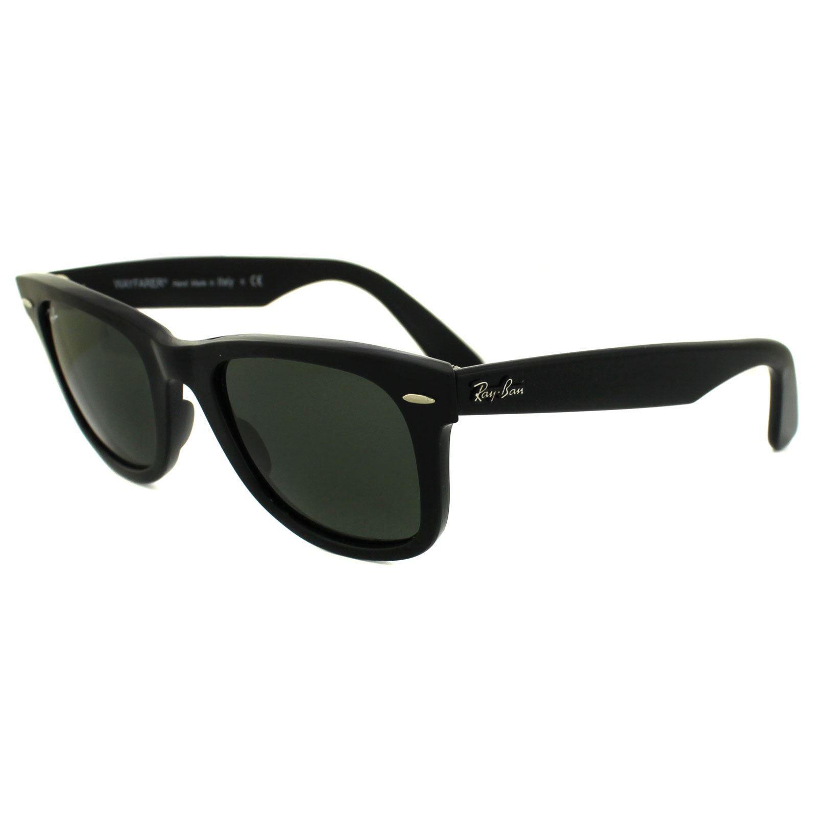 Ray-Ban Sunglasses Wayfarer 2140 901 Black Green G-15 Medium 50mm