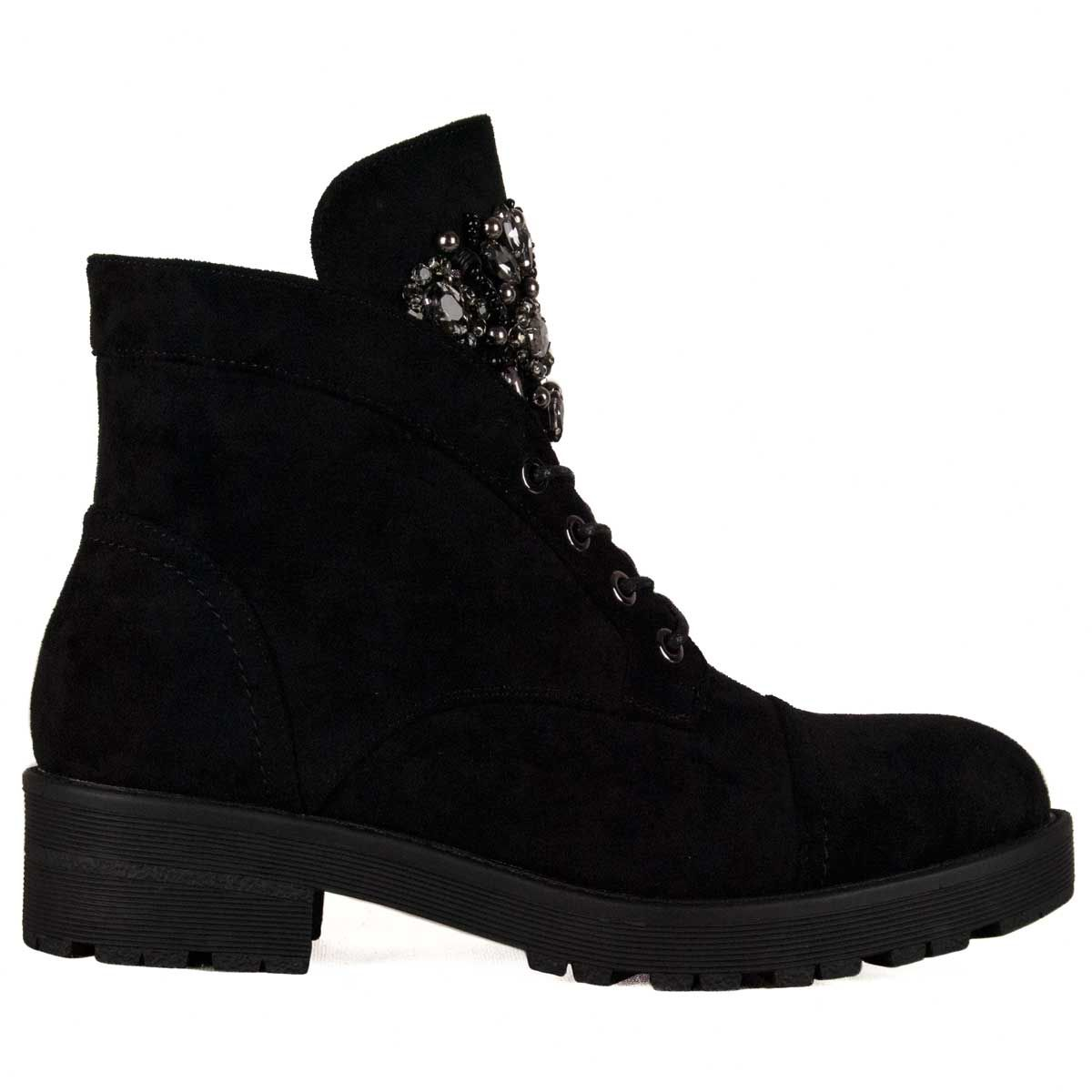 Montevita Lace Up Ankle Boot in Black