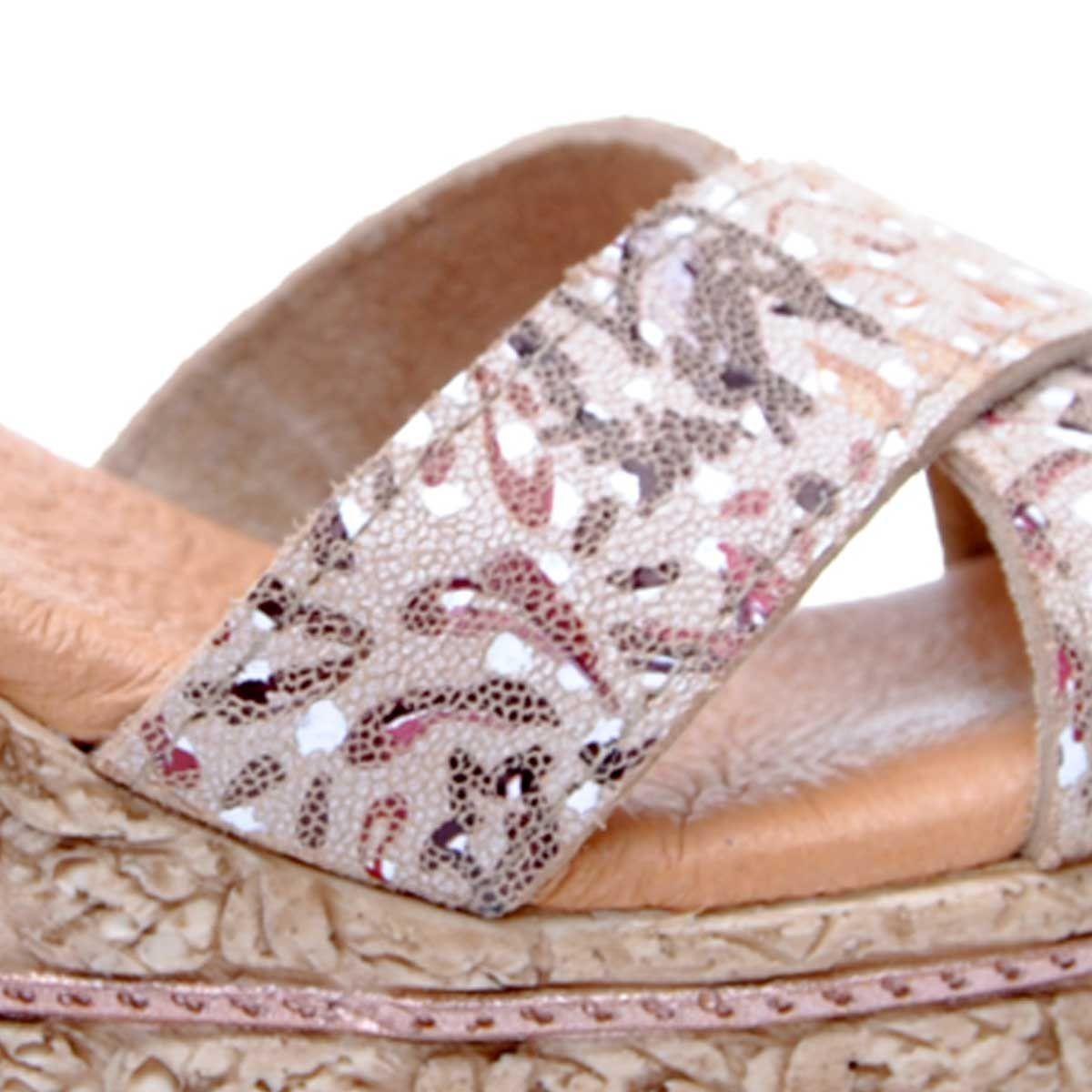 Purapiel Wedge Sandal in Nude