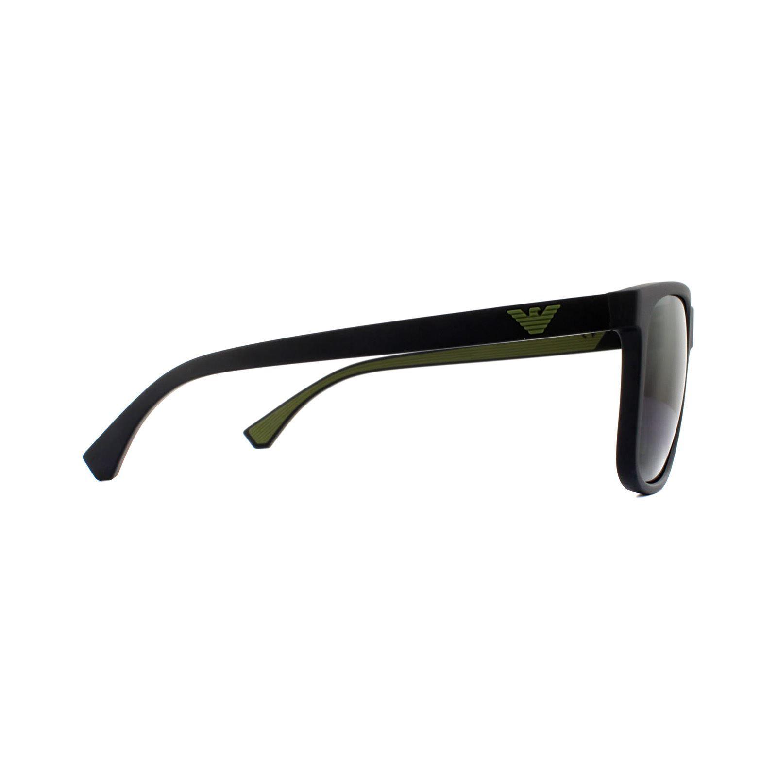 Emporio Armani Sunglasses EA4129 504287 Matte Black Grey Gradient