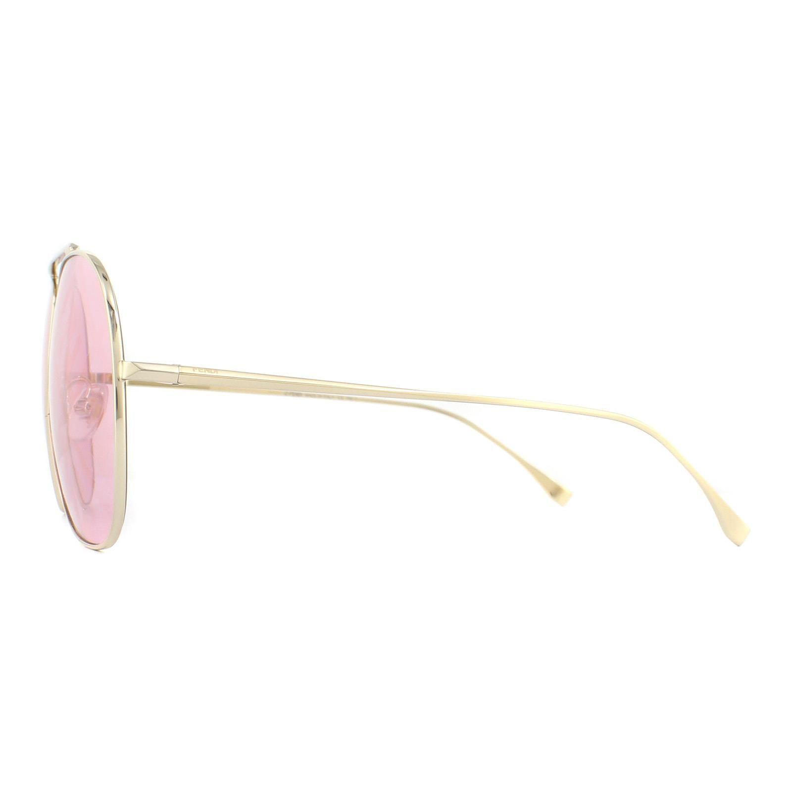 Fendi Sunglasses FF 0407/G/S EYR 0L Gold Pink Pink Fendi Monogram