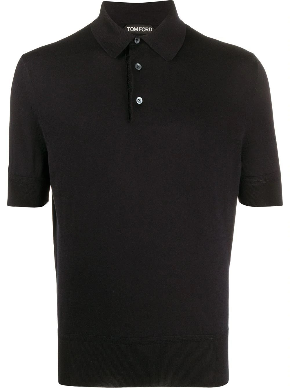 TOM FORD MEN'S TFKC33BUC00K09 BLACK COTTON POLO SHIRT