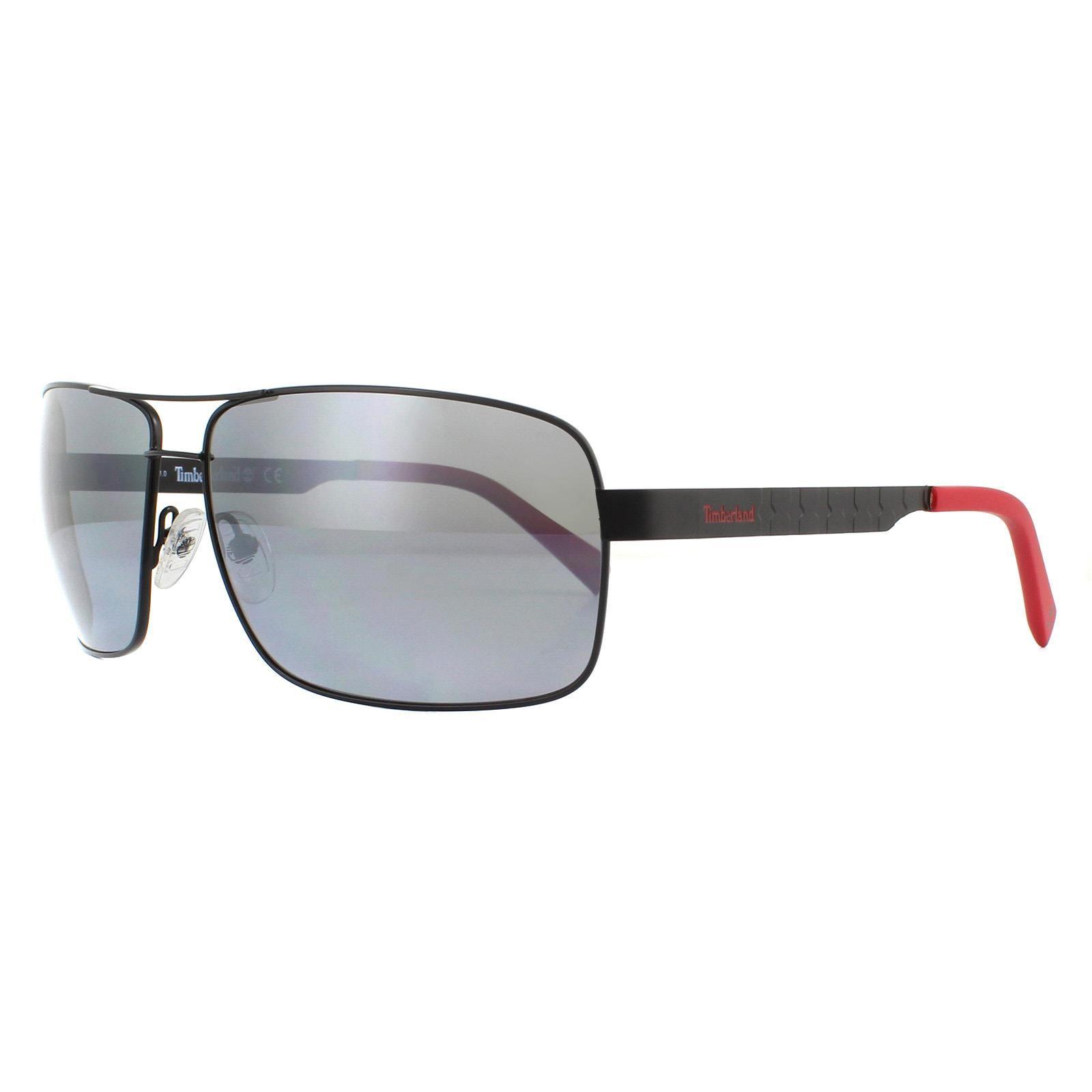 Timberland Sunglasses TB9225 02D Semi Matte Black Grey Polarized