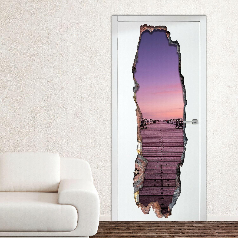 3D Serenity Door mural Self Adhesive DIY Wall Stickers, Kitchen, Bathroom, Living room, Self-adhesive, Decal, Decoration, Flower