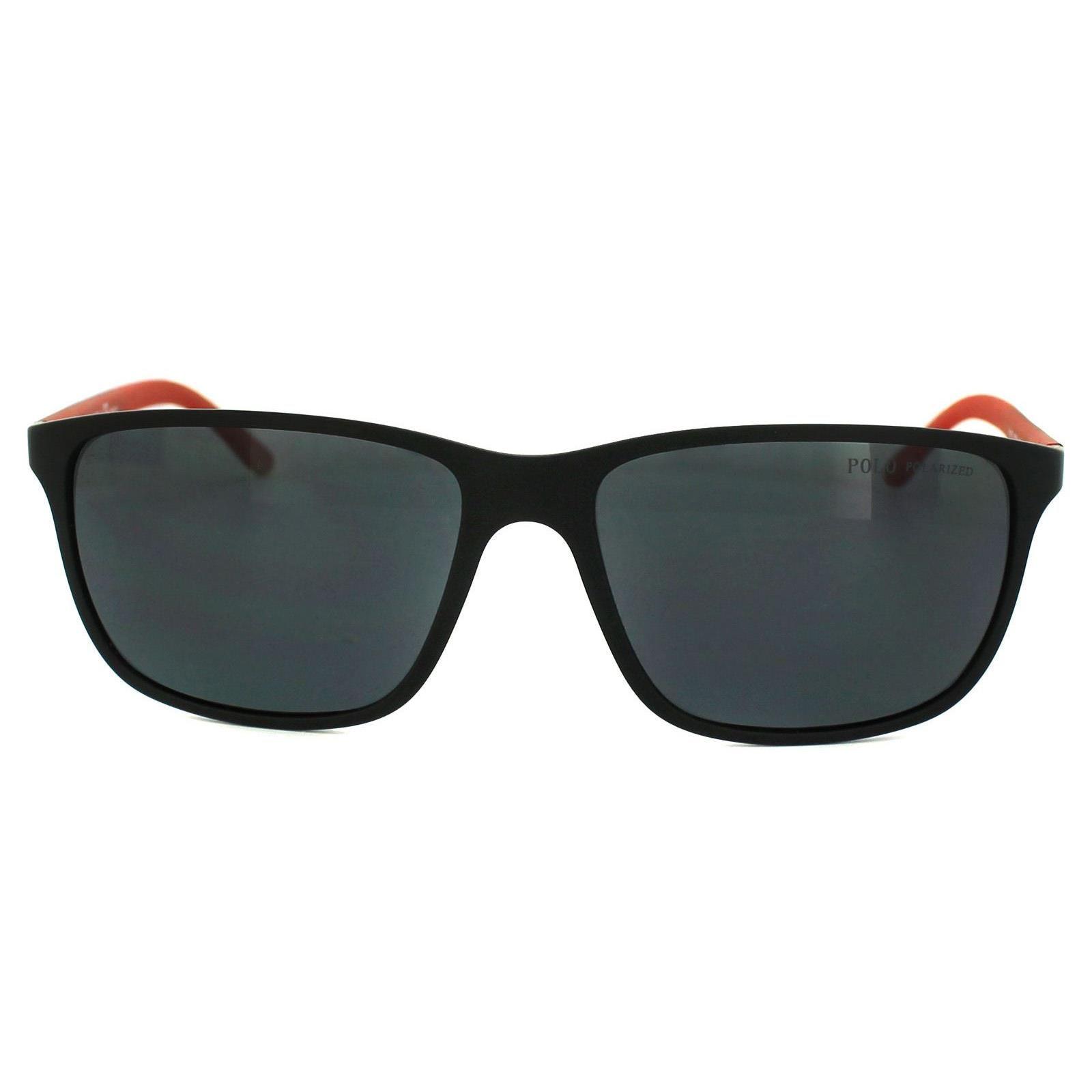 Polo Ralph Lauren Sunglasses 4092 550481 Matt Black Grey Polarized