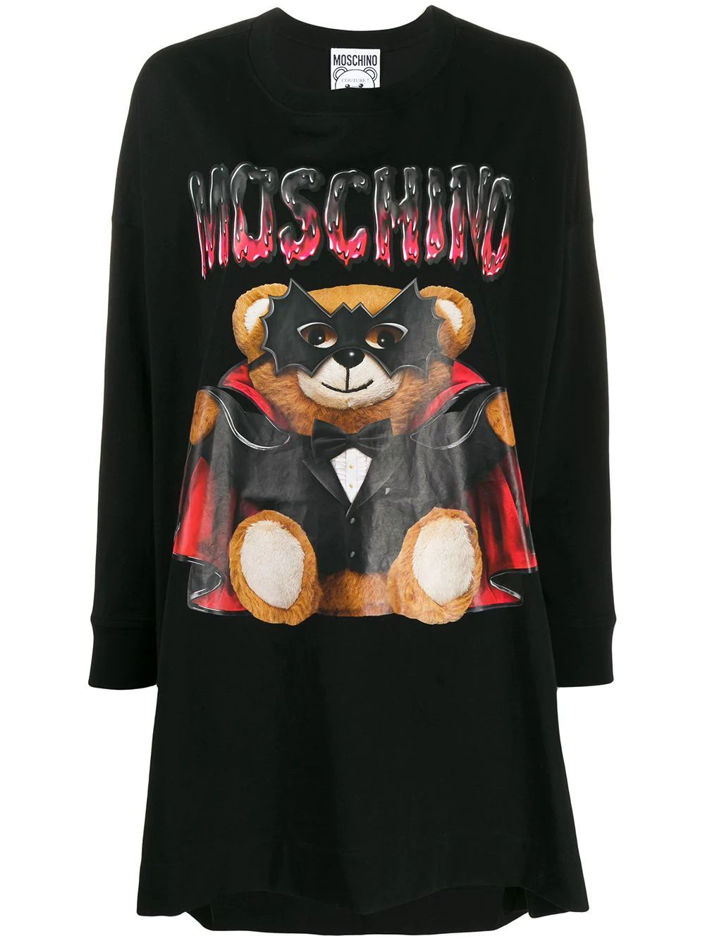 MOSCHINO WOMEN'S V045805401555 BLACK COTTON DRESS