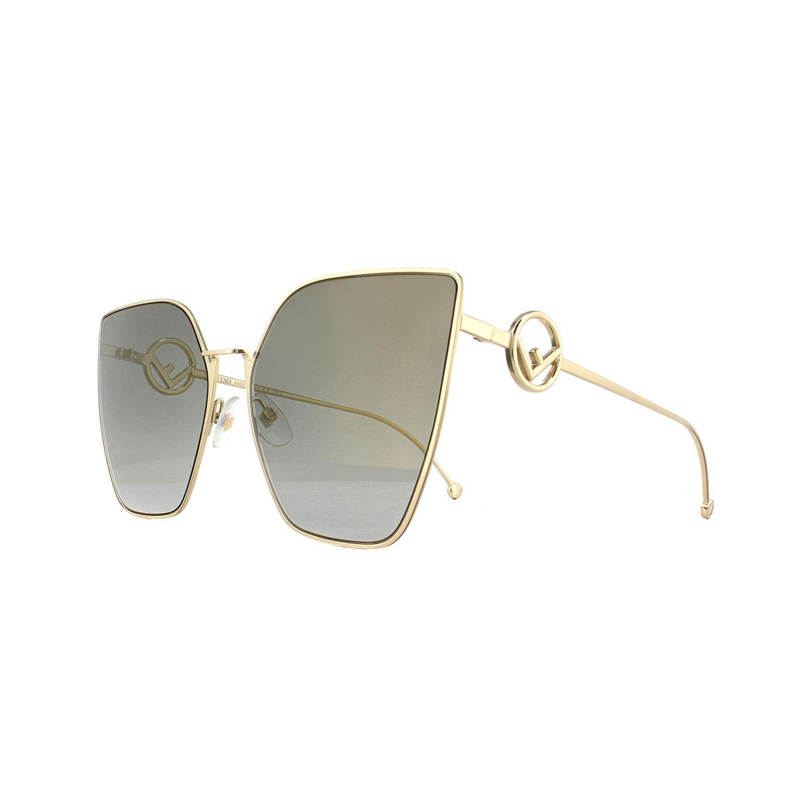Fendi Sunglasses 0323/S FT3 FQ Light Gold Dark Grey Gradient