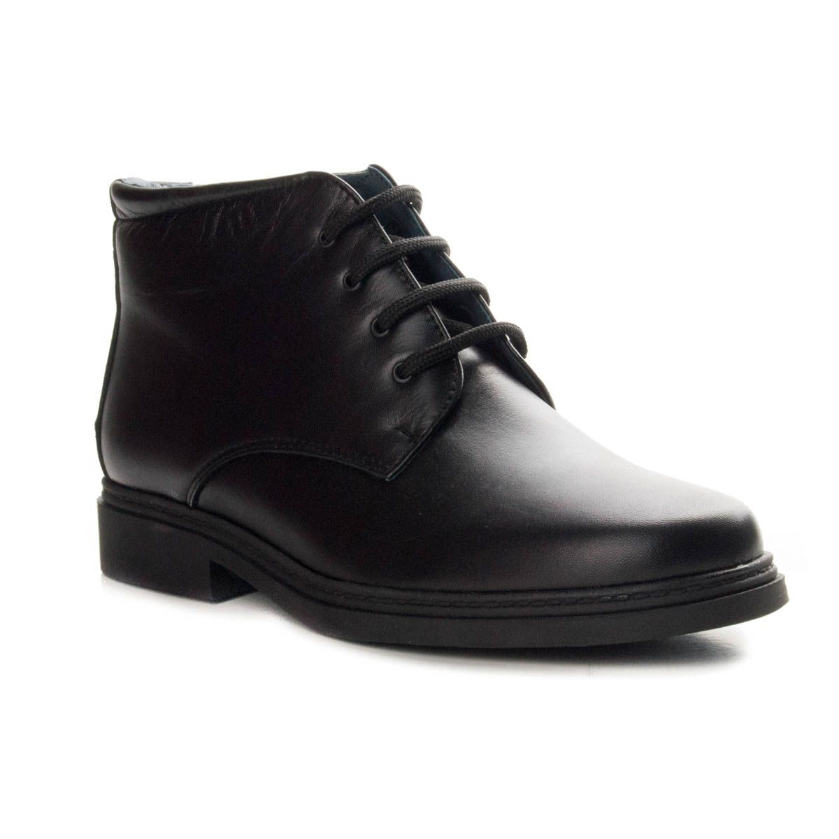 Purapiel Lace Up Ankle Boot in Black