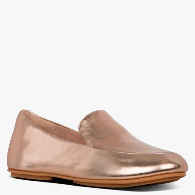 Fitflop Leana Metallic Leather Loafers