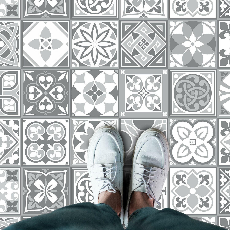 Purbeck Stone Tiles Floor Stickers 120cm x 60 cm, Kitchen, Bathroom, Living room, Self-adhesive