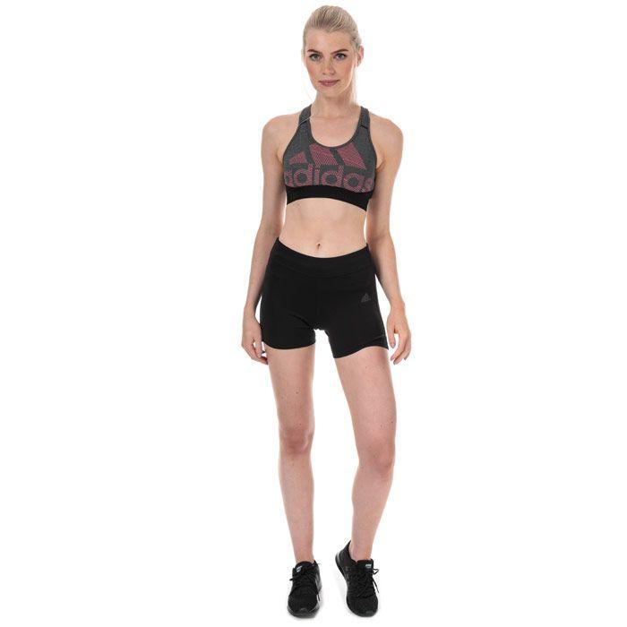 Women's adidas Don't Rest Alphaskin BOS Bra in Black Marl