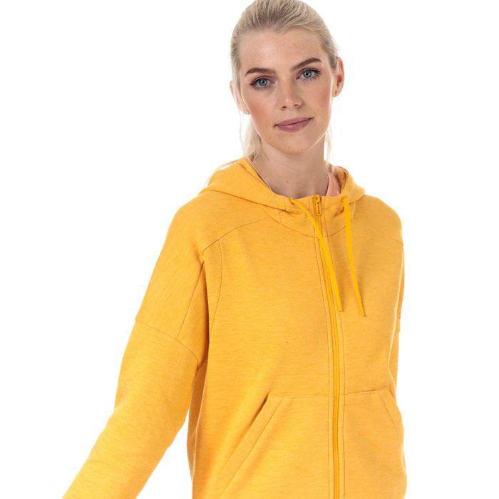 Women's adidas ID Melange Zip Hoody in Gold
