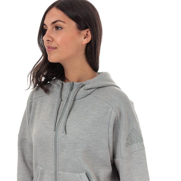 Women's adidas ID Melange Zip Hoody in Grey Marl