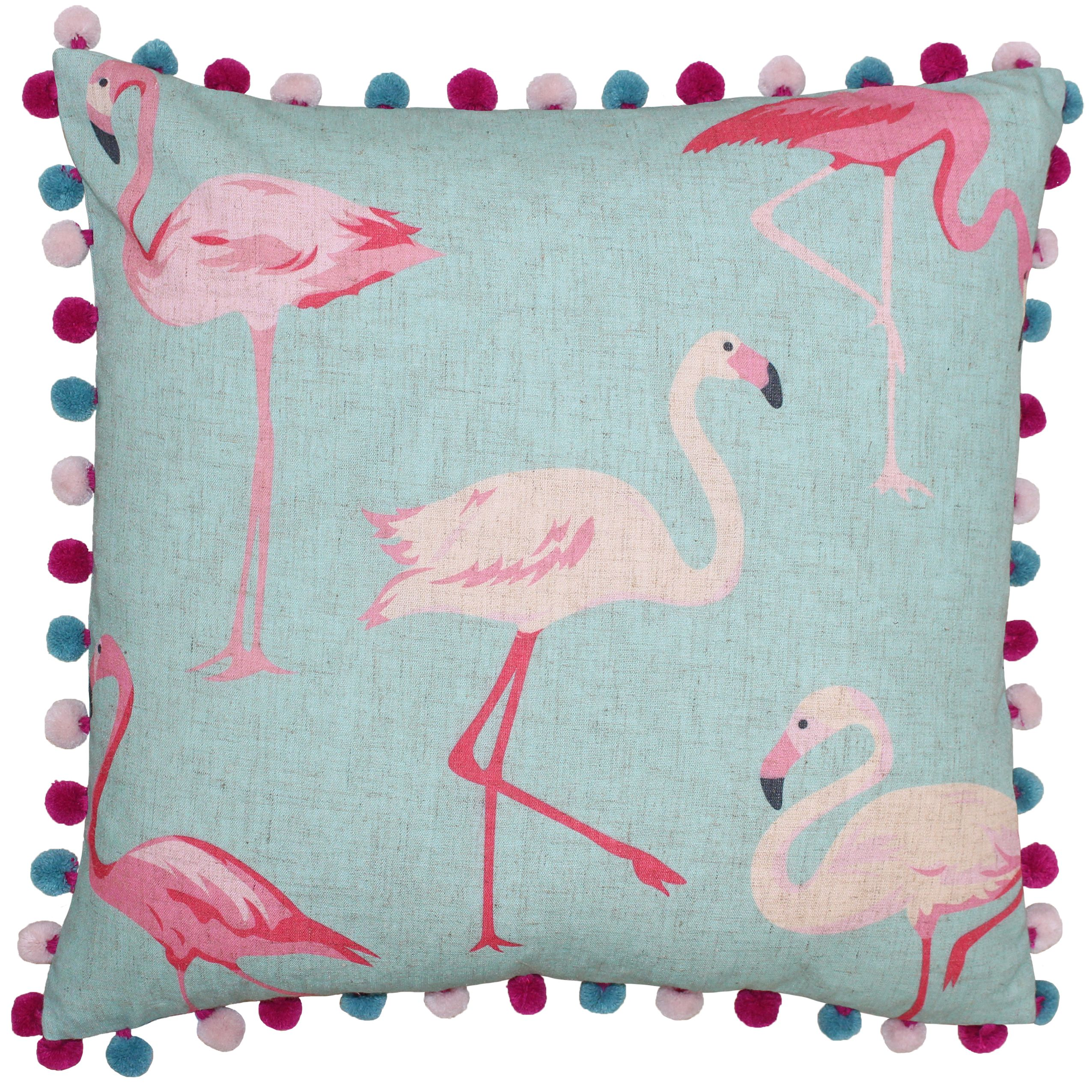 Flamingo 50X50 Poly Cushion Deb