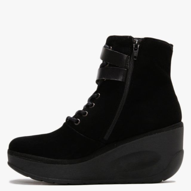 Fly London Jabi Suede Wedge Ankle Boots