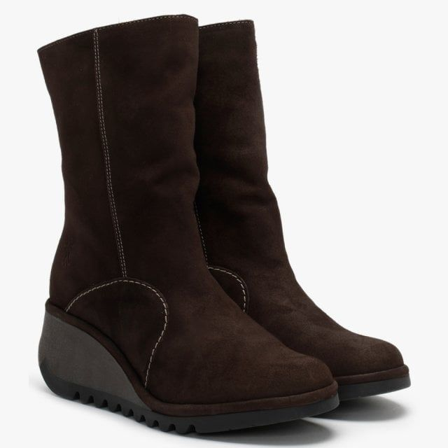 Fly London Nort Suede Wedge Ankle Boots