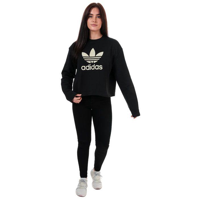 Women's adidas Originals Premium Crew Sweatshirt in Black