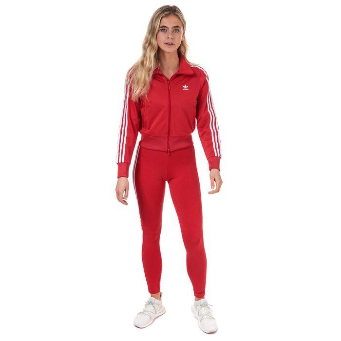 Women's adidas Originals Firebird Track Top in Red