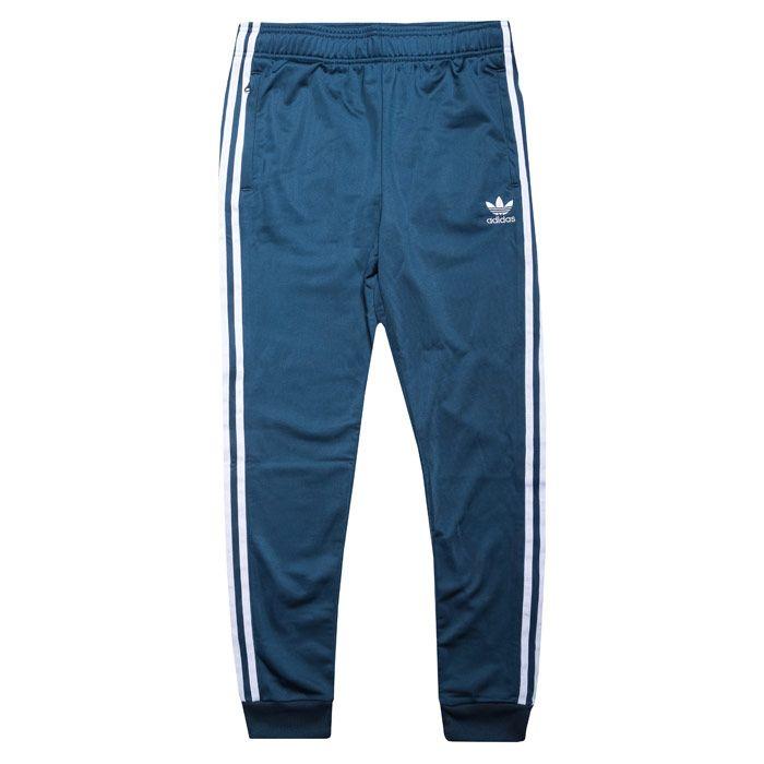 Boy's adidas Originals Junior SST Track Pants in Dark Blue