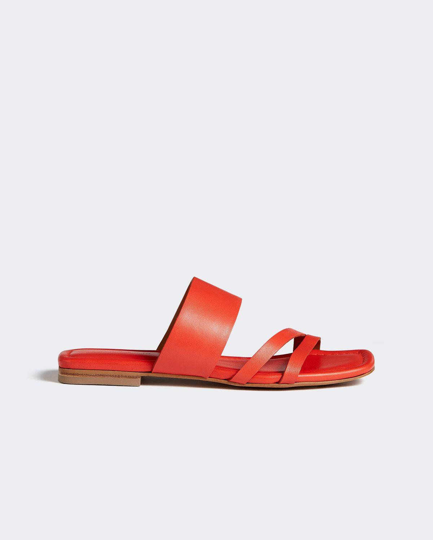 Karla Leather Slider Sandal