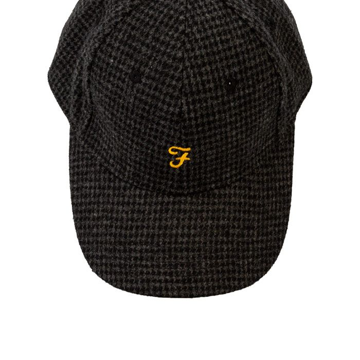 Accessories Farah Lasalle Hounds Tooth Cap in Black