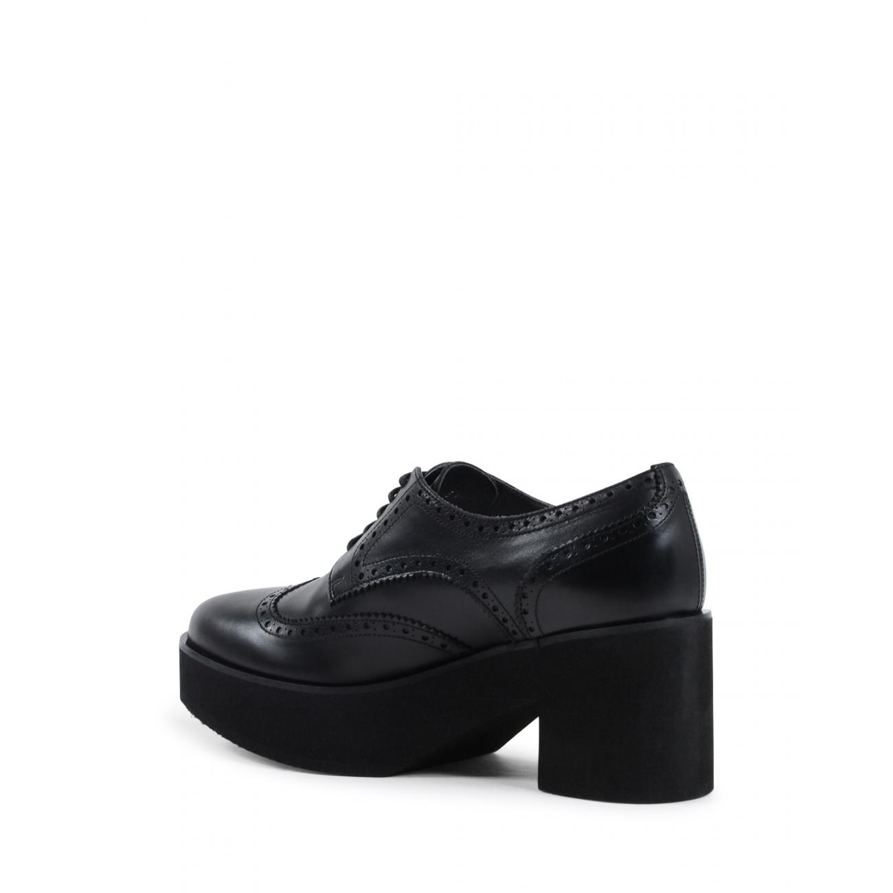 Fratelli Rossetti Womens Brogue Shoe Black 75438 VELVETY NERO