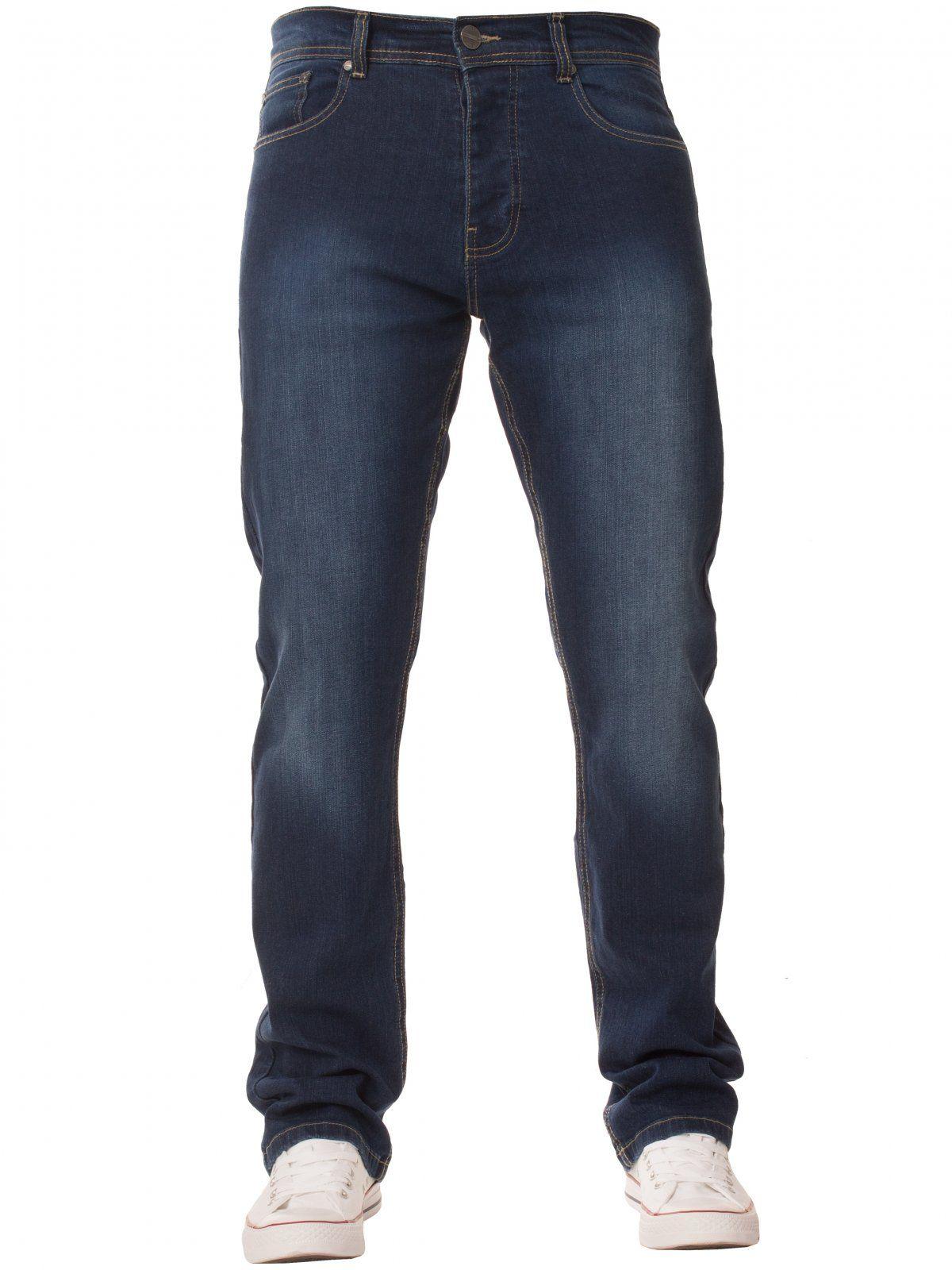 Mens  Regular Fit Stretch Denim Jeans   Enzo Designer Menswear