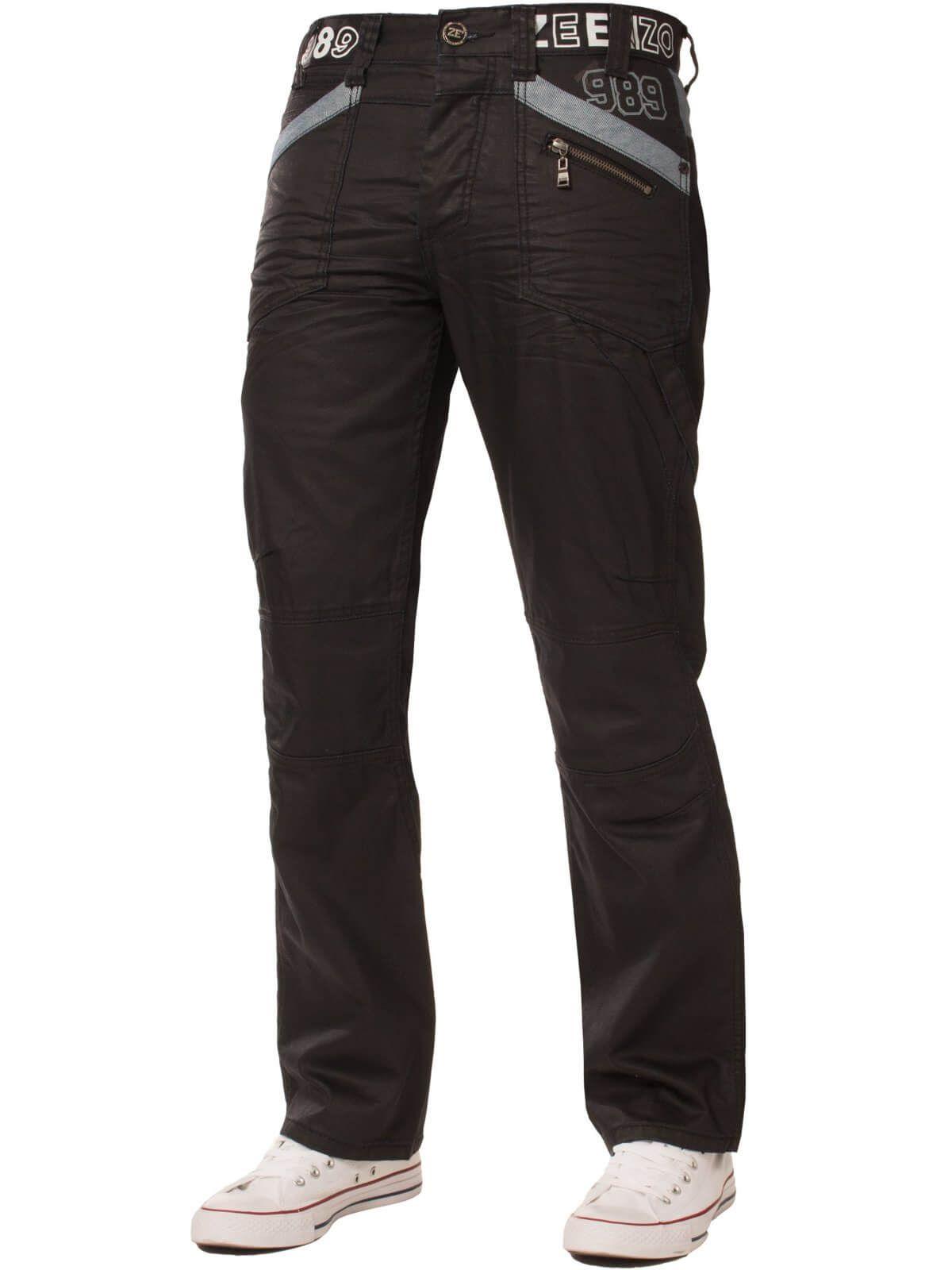Mens   Black Coated Denim  Jeans | Enzo Designer Menswear