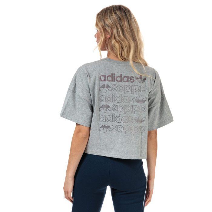 Women's adidas Originals Large Logo T-Shirt in Grey Marl