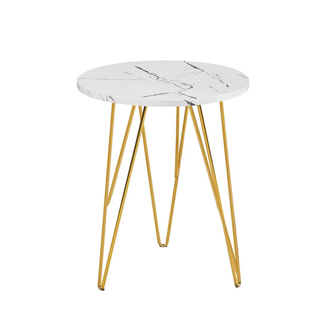 Fushion Lamp Table Marble White