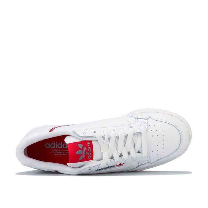 Men's adidas Originals Continental 80 Trainers in White Grey