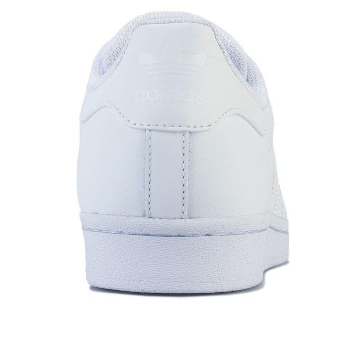 adidas Originals Superstar Trainers in White silver