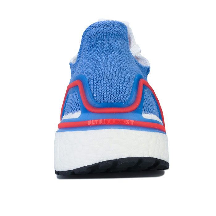 Women's adidas Ultraboost 19 Running Shoes in White blue