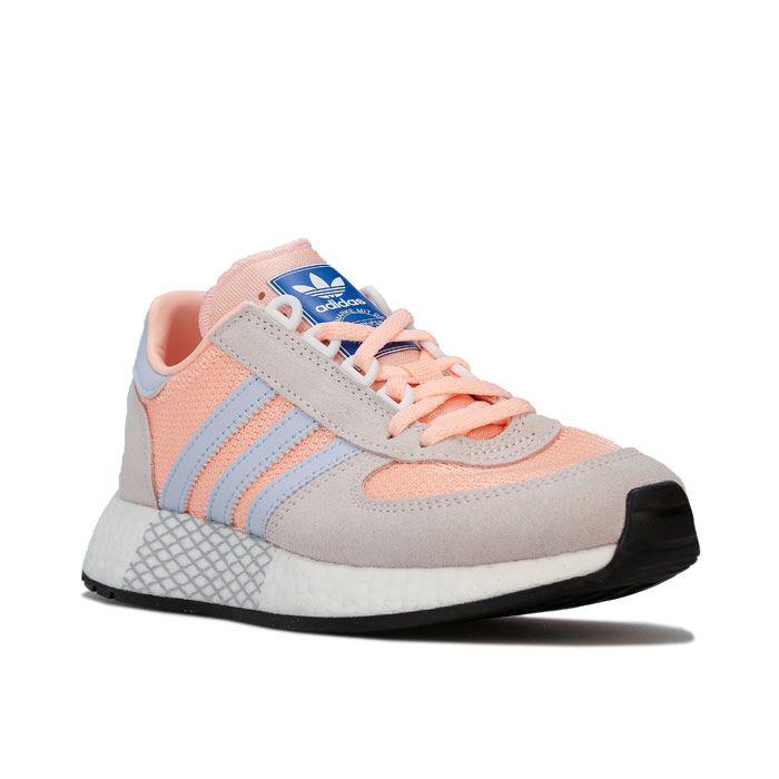 Women's adidas Originals Marathon Tech Trainers in Peach