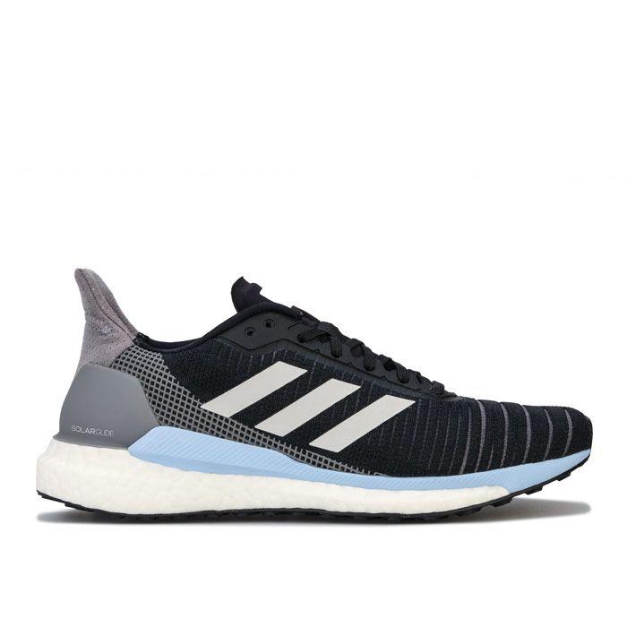 Women's adidas Solar Glide 19 Running Shoes in black blue