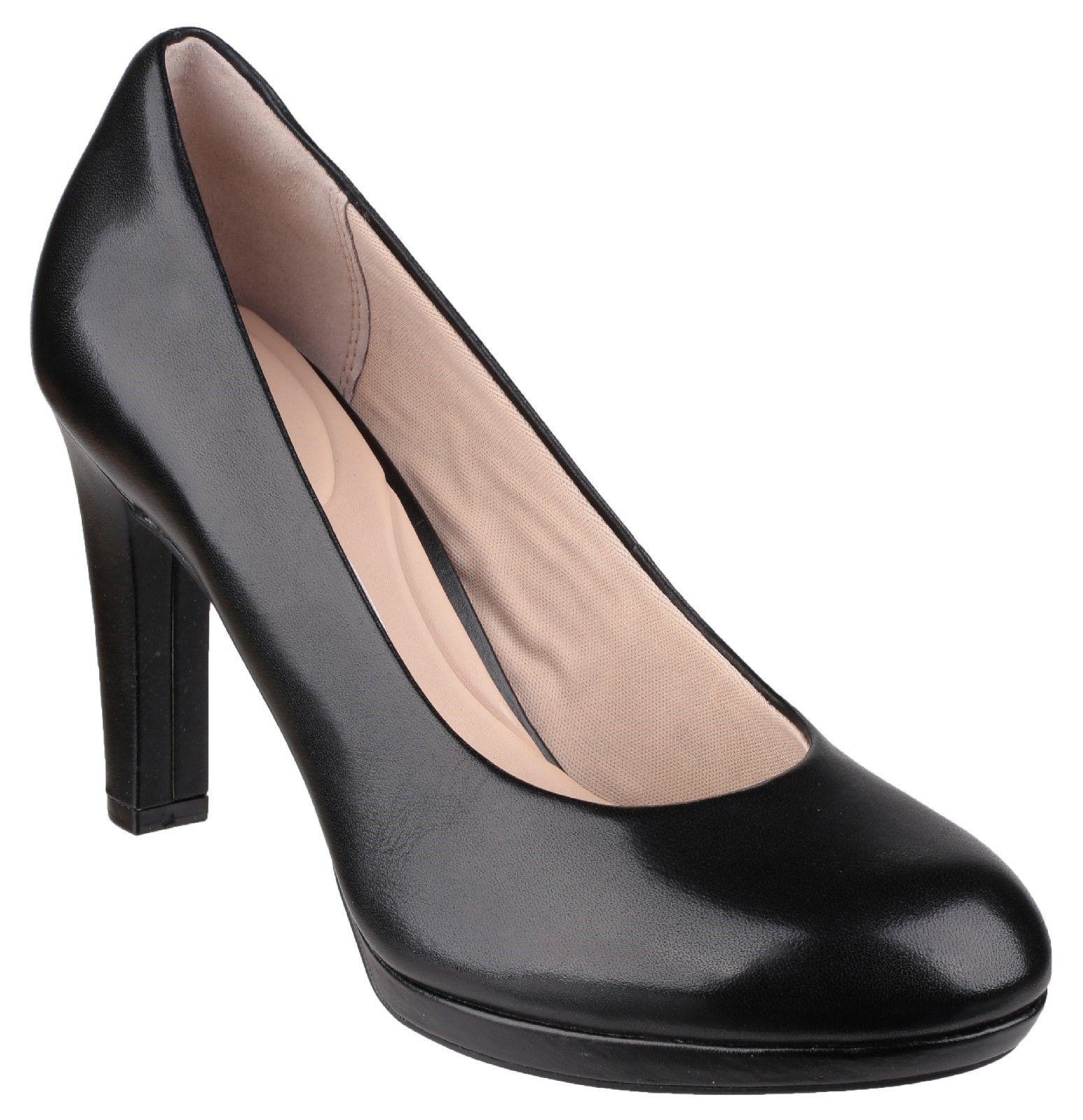 Seven To 7 Black Court Shoe