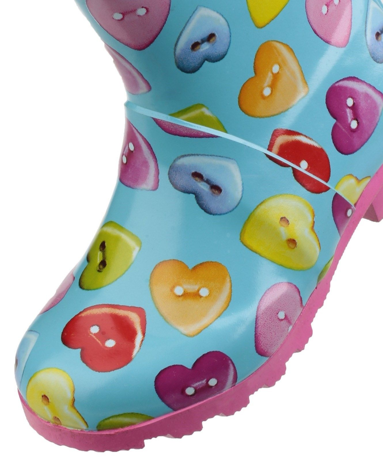 Childrens Button Heart Wellington