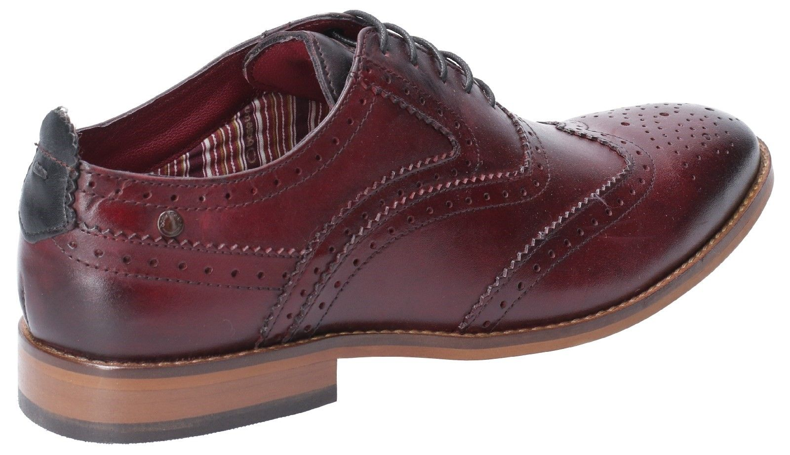 Focus Washed Lace Up Brogue Shoe