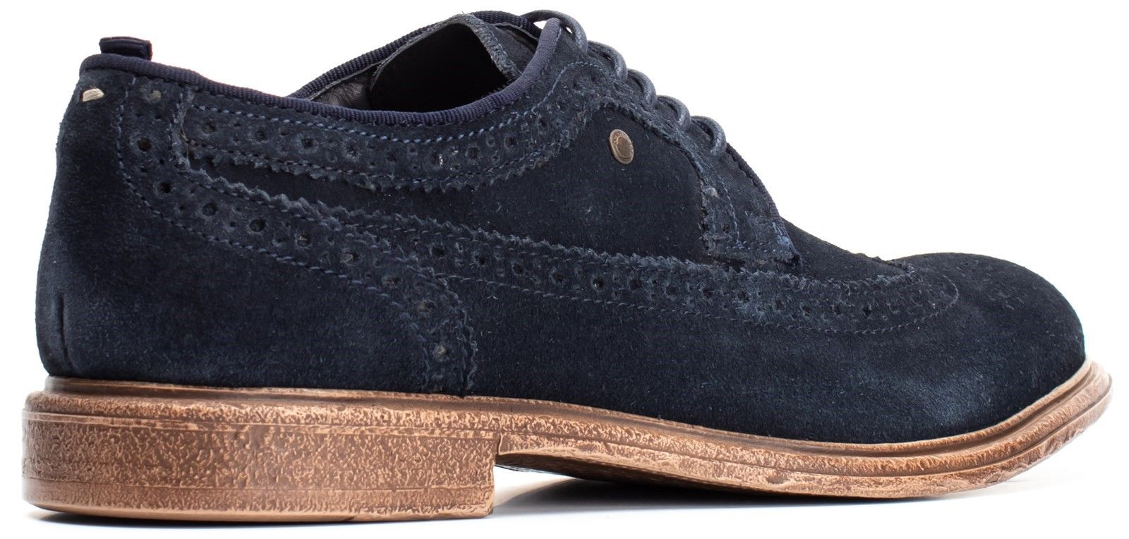 Onyx Suede Lace Up Brogue