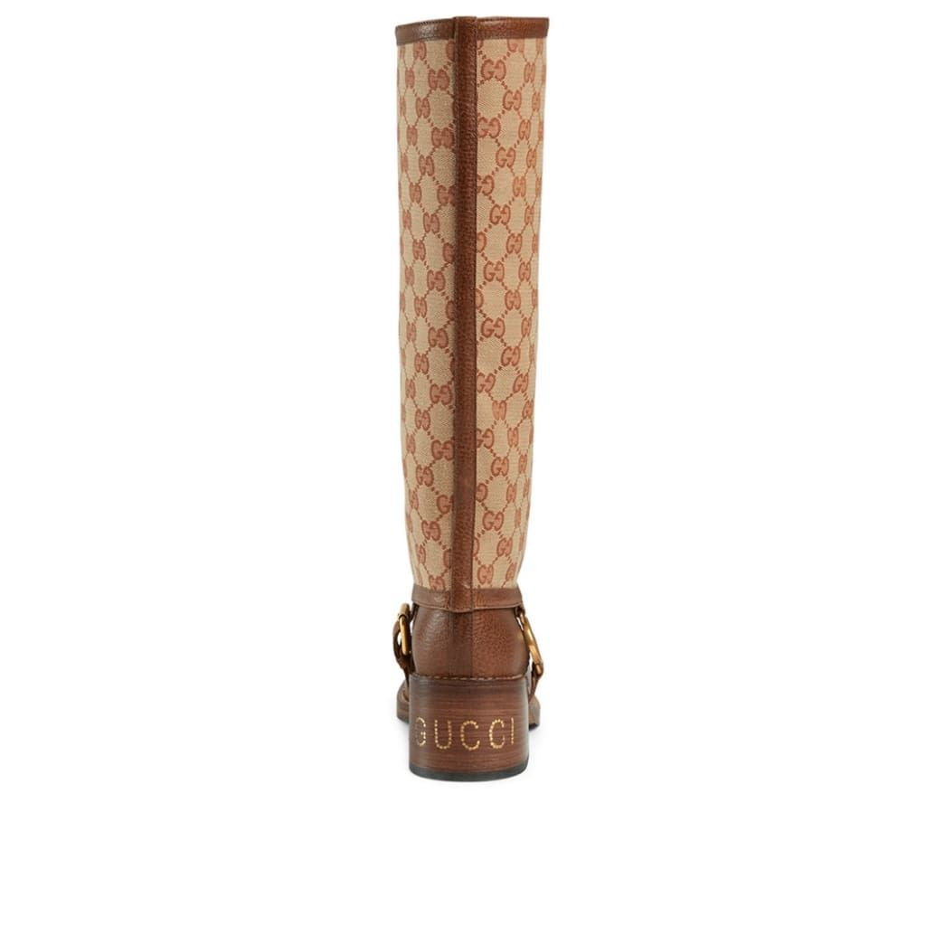 Gucci GG Gaiter Leather Boots