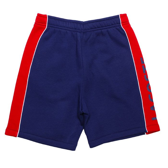 Boy's Lacoste Junior Sport Panel Shorts in Blue