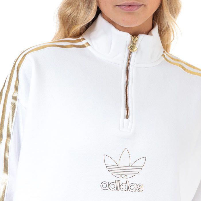 Women's adidas Originals Quarter Zip Sweatshirt in White