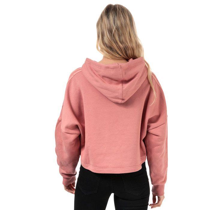 Women's adidas Originals Cropped Hoody in Dusky Pink