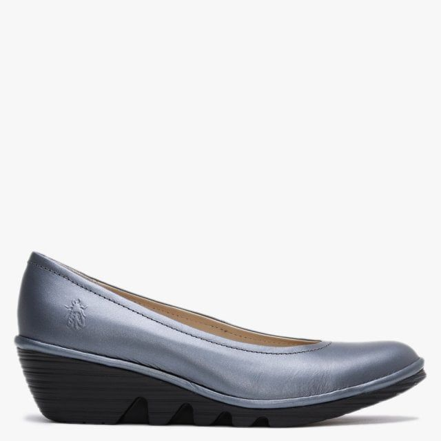 Fly London Leather Wedge Pumps