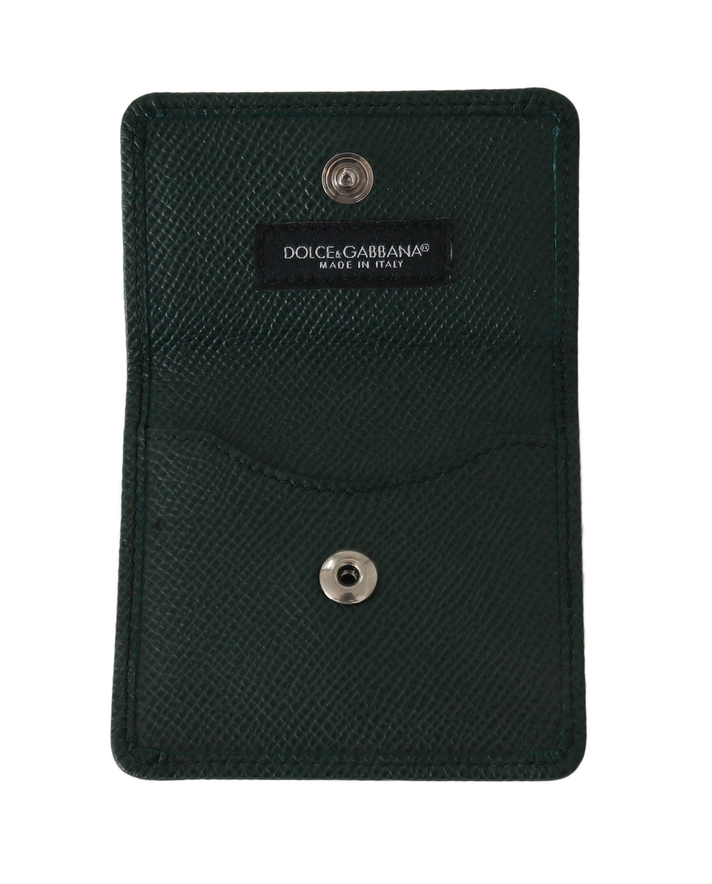 Dolce & Gabbana Green Dauphine Leather Case Holder