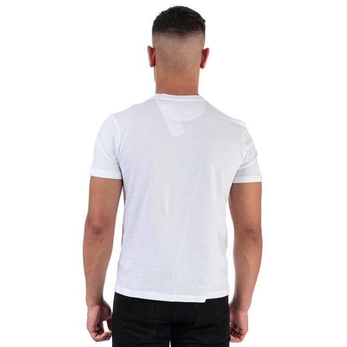 Men's Henri Lloyd Printed Round Neck T-Shirt in White