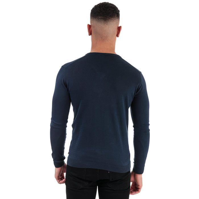 Men's Henri Lloyd Cotton V-Neck Jumper in Blue