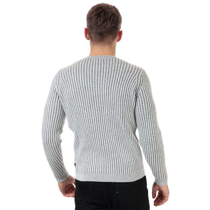 Men's Henri Lloyd Wool Mix Round Neck Jumper in Grey