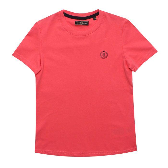 Boy's Henri Lloyd Junior Radar T-Shirt in Coral